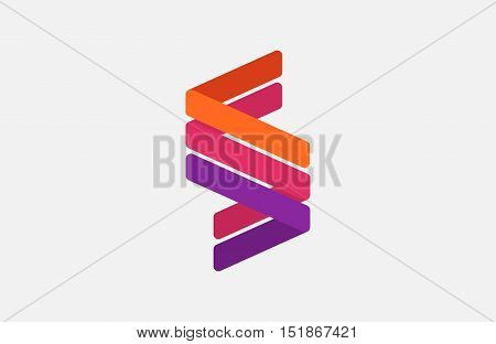 Abstract letter S logo design template. Line creative sign. Universal vector icon.