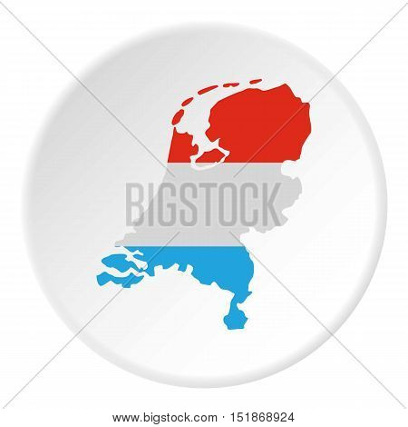 Map of Holland icon. Flat illustration of map of Holland vector icon for web