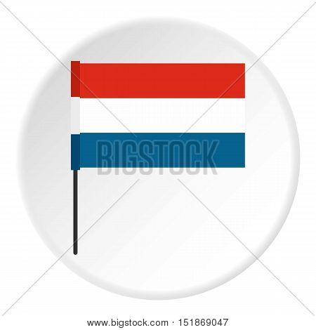 Flag of Netherlands icon. Flat illustration of flag of Netherlands vector icon for web
