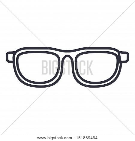 Glasses icon. Accesory fashion style and summer theme. Isolated design. Vector illustration