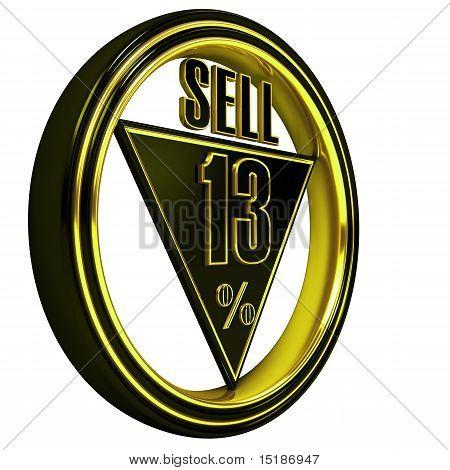 Vender oro metal 13% en blanco