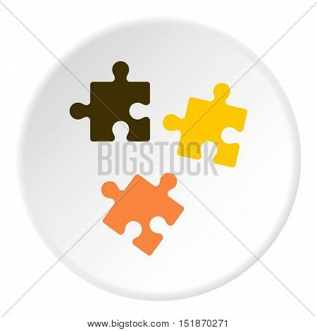 Three puzzle icon. Flat illustration of three puzzle vector icon for web