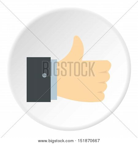 Thumb up icon. Flat illustration of thumb up vector icon for web