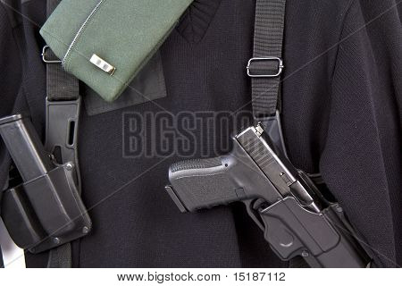 Military Uniform And Pistol