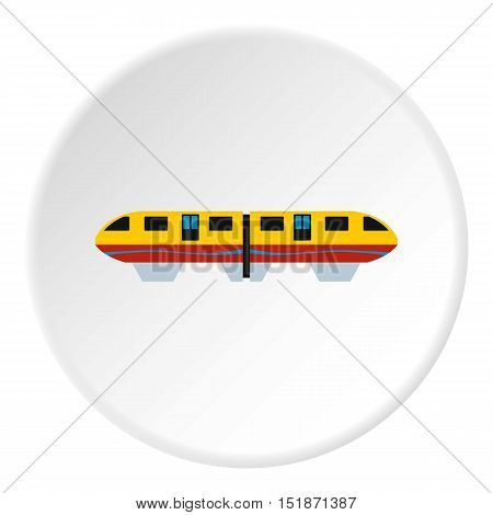 Electric train icon. Flat illustration of electric train vector icon for web
