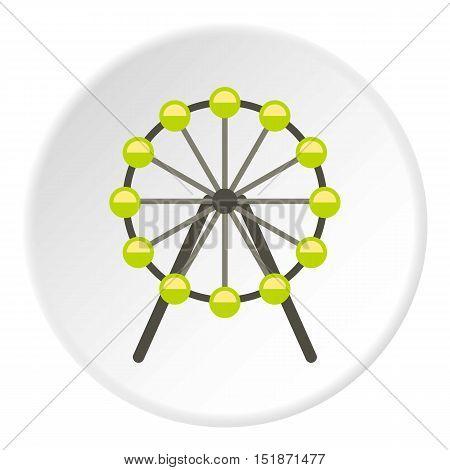 Ferris wheel icon. Flat illustration of ferris wheel vector icon for web