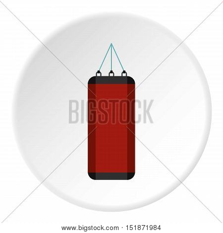Red sports pear icon. Flat illustration of red sports pear vector icon for web