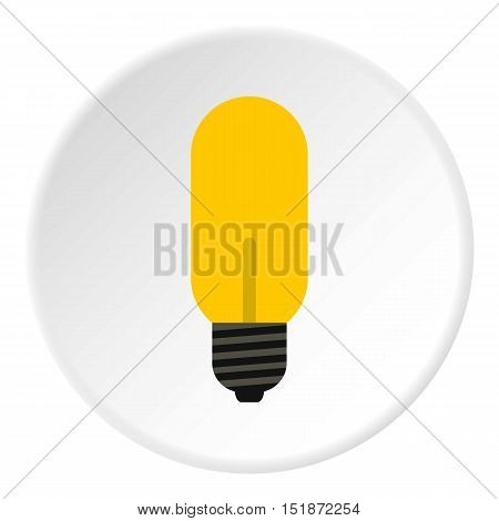 Halogen lamp icon. Flat illustration of halogen lamp vector icon for web