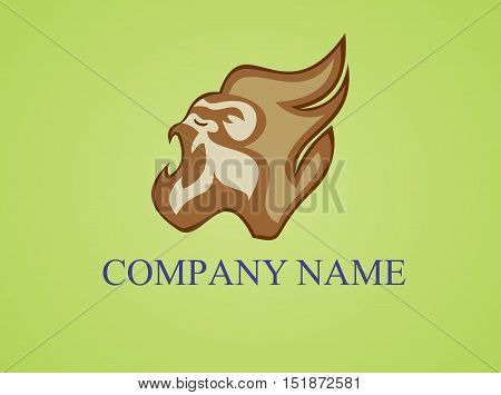 stock logo illustration roar strong head gorilla