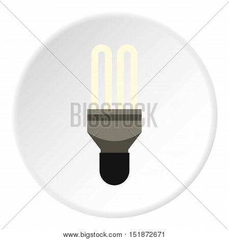 Electric lamp icon. Flat illustration of electric lamp vector icon for web