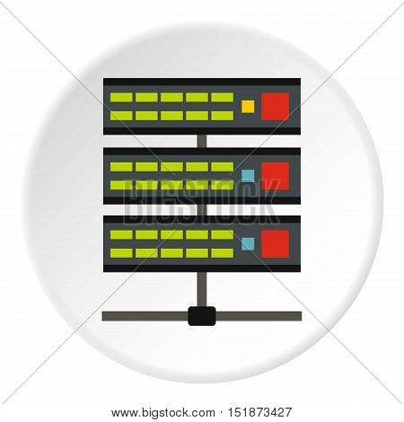 Data storage icon. Flat illustration of data storage vector icon for web