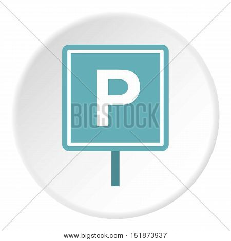 Parking sign icon. Flat illustration of parking sign vector icon for web