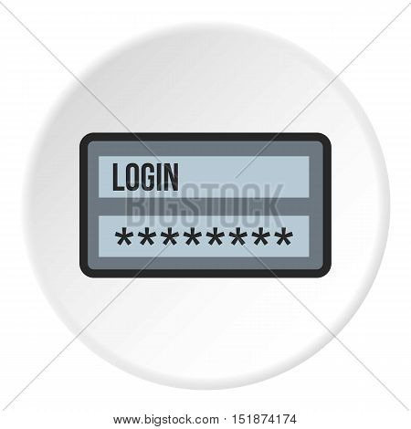 Username and password icon. Flat illustration of username and password vector icon for web