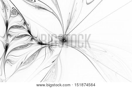 black and white fractal back ground back drop