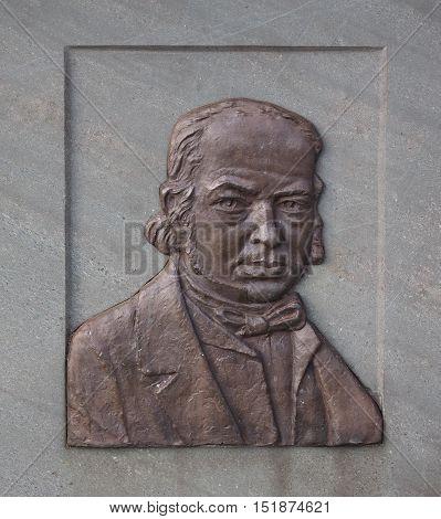 Commemorative Plaque For Engineer Brunel In Bristol