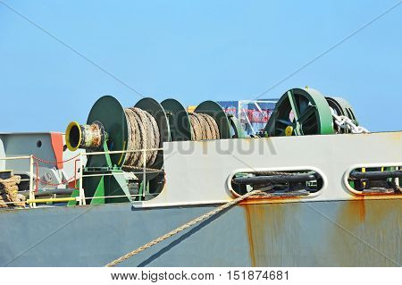 Mooring Winch With Hawser