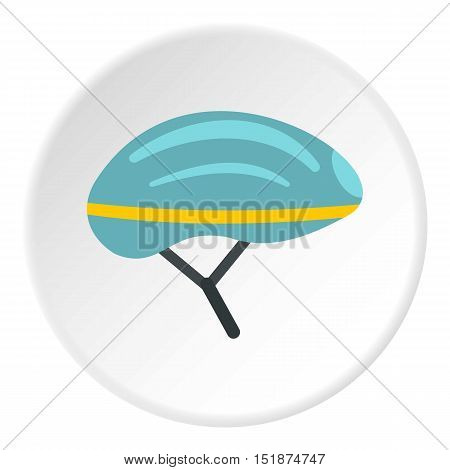 Bicycle helmet icon. Flat illustration of bicycle helmet vector icon for web
