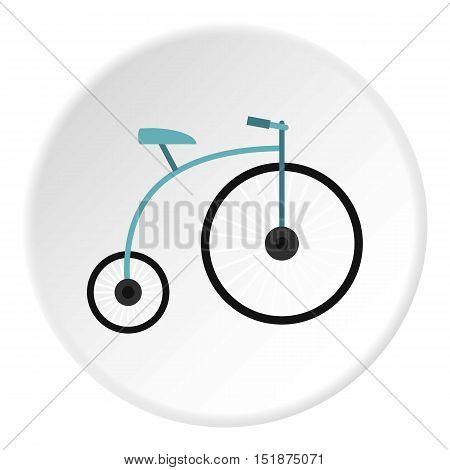 Retro bike icon. Flat illustration of retro bike vector icon for web