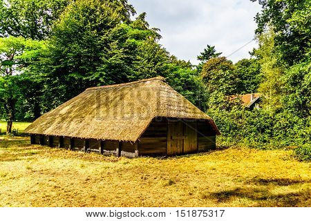 Old fashioned sheep barn on the Veluwe in the Netherlands