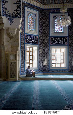 Istanbul Turkey - October 2 2016: Istanbul Seyit Nizam Mosque in Zeytinburnu district. Mosque has been restored re-open the service.