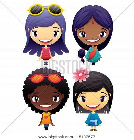 Girls Vector Pack