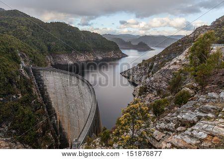 Gordon Dam And Lake. Southwest, Tasmania