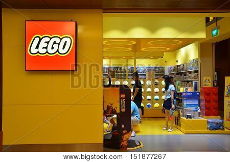 Lego Store On Festive Hotel In Sentosa, Singapore.