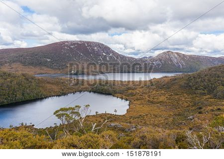 Wombat Pool And Dove Lake In Cradle Mountain National Park, Tasmania