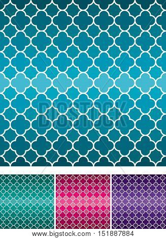 Moroccan Weave Pattern Set In Vector Format.