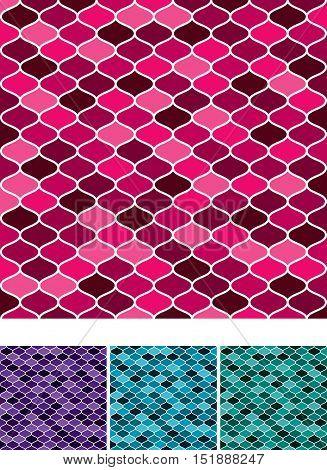 Moroccan Weave Pattern Set In Vector Format.