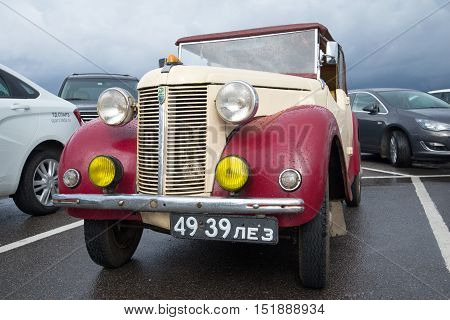 KRONSTADT, RUSSIA - SEPTEMBER 04, 2016: One of the first cars