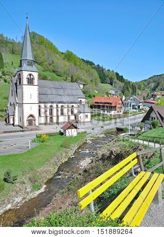 idyllic Village of Bad Petersthal in Black Forest,Baden-Wuerttemberg,Germany