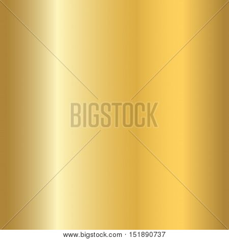 Gold texture seamless pattern. Light realistic shiny metallic empty golden gradient template. Abstract metal decoration. Design for wallpaper background wrapping fabric etc. Vector Illustration