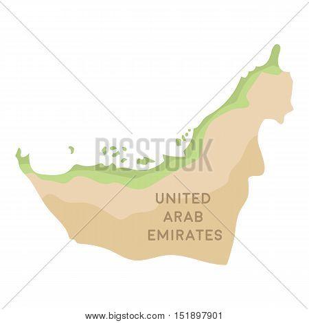 Territory of United Arab Emirates icon in cartoon style isolated on white background. Arab Emirates symbol vector illustration.