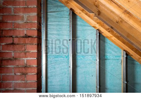attic renovation and thermal Insulation metal profiles