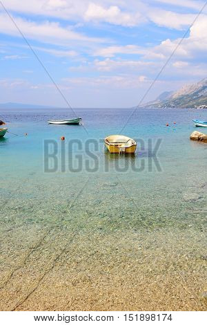 Beautiful Sea Beach With Boats