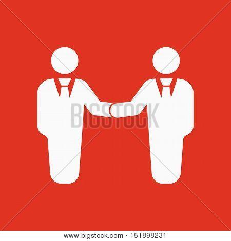 The handshake icon. Partnership and negotiation, cooperation symbol. Flat Vector illustration