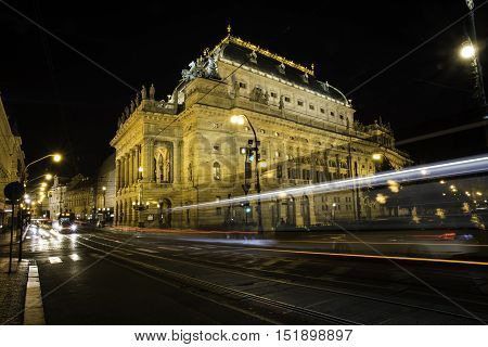 The historic National Theater in Prague, Czech Republic