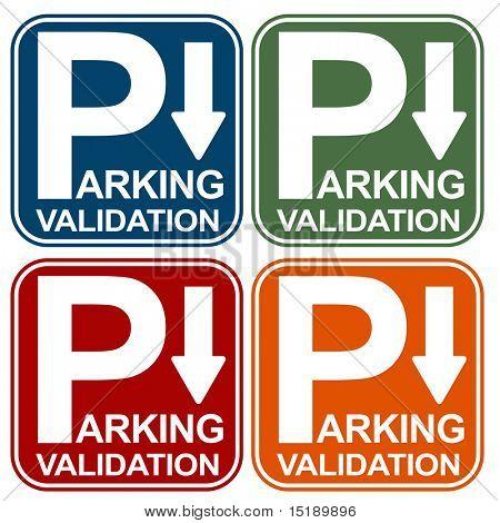 Parkplatz Validierung Zeichen