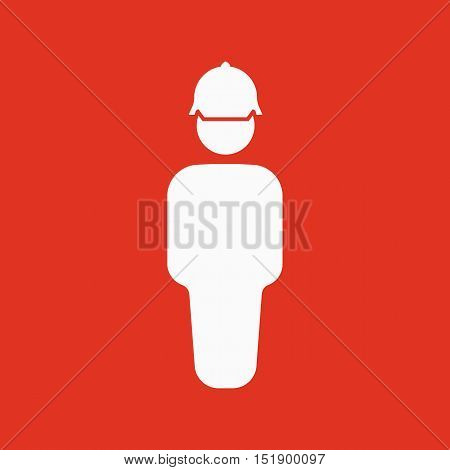 The worker icon. Engineer and repair, technician, builder symbol. Flat Vector illustration