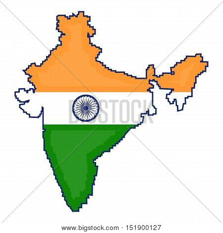 Indian territory icon in cartoon style isolated on white background. India symbol vector illustration.