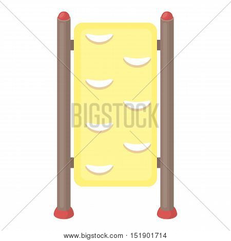 Gymnastics wall bars icon in cartoon style isolated on white background. Park symbol vector illustration.