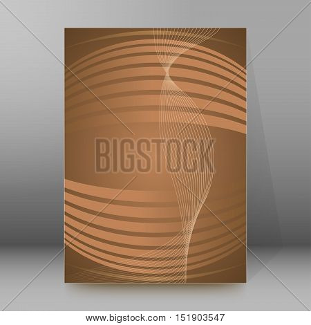 Background Report Brochure Cover Pages A4 Style Abstract Glow05