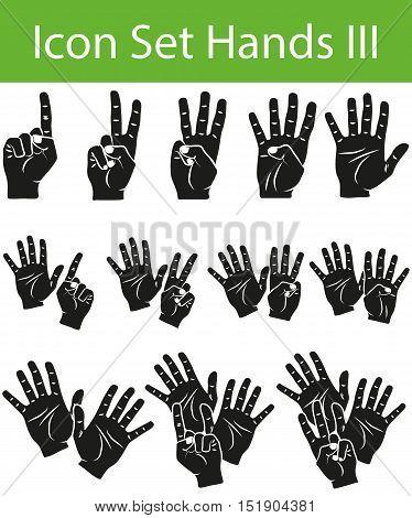 Icon Set Hands Iii