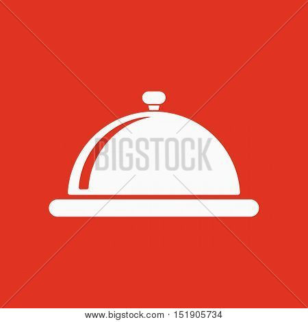 The tray station icon. Breakfast and lunch, dinner, restaurant symbol. Flat Vector illustration