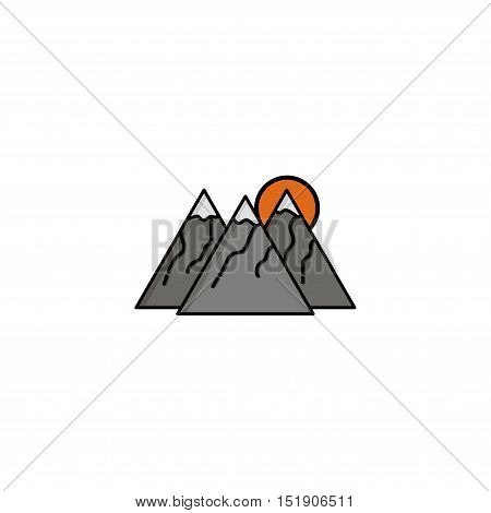Hunting icon. Mountains. Flat style Vector illustration EPS 10