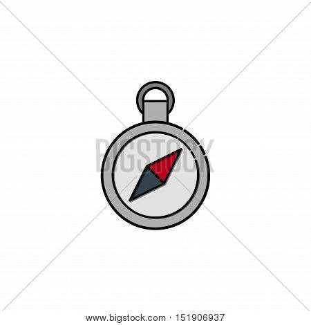 Compass icon. Flat style. Vector illustration EPS 10