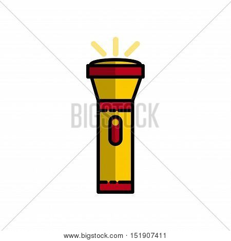 Hunting icon. Flashlight. Flat style Vector illustration EPS 10