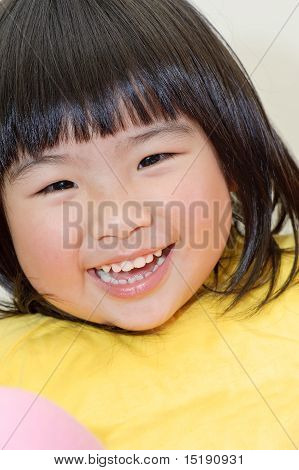 Smiling Asian Baby