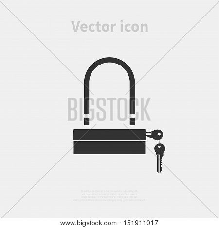 Padlock icon isolated on background. Vector illustration.